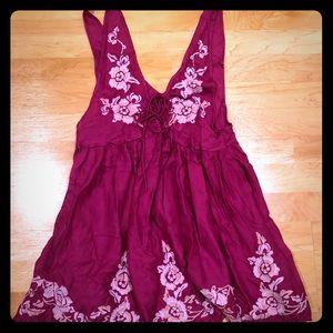 Free People pink floral dress NWT